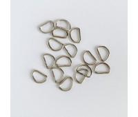 Полукольцо 0,8-1 см, цвет серебро, 1 шт