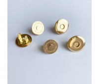 Магнитная кнопка плоская тарелочка 1,6 см, цвет золотой