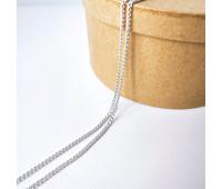 Цепочка 3-4 мм, цвет серебро, 10 см