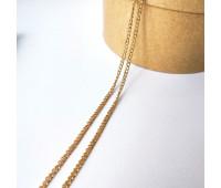Цепочка 3-4 мм, цвет золото, 10 см