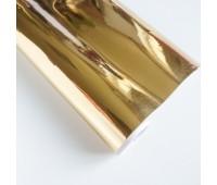 Самоклеющаяся пленка, цвет золото, 10-22,5 см