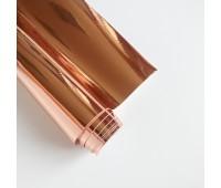 Самоклеющаяся пленка, цвет розовое золото, 10-22,5 см
