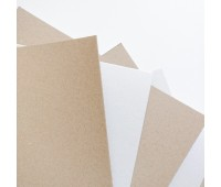 Картон двухсторонний 0,6 мм, 26х26 см