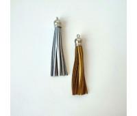 Подвеска кисточка из козжама, серебро