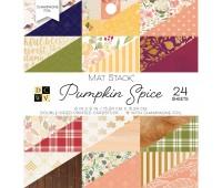 Набор бумаги двухсторонний с золотым фольгированием Pumpkin Spice 15х15 см