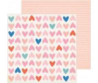 Лист двухсторонней бумаги Be Mine, La La love