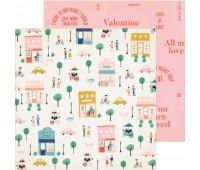 Лист двухсторонней бумаги Amour, La La love
