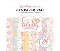Набор бумаги двухсторонней Hello Baby Girl 15х15 см