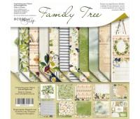 Набор двусторонней бумаги 20х20см от Scrapmir Family Tree 11шт