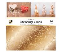Набор бумаги односторонней с фольгированием Mercury glass stack, 30-30