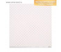 Бумага для скрапбукинга жемчужная «Нежность», 30,5 × 32 см, 250г/м