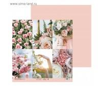 Бумага для скрапбукинга «Цветочный вальс», 30.5 × 30.5 см, 180 г/м