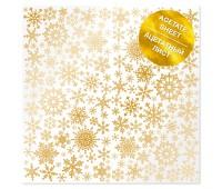 """Ацетатный лист с фольгированием """"Golden Snowflakes"""""""