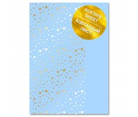 """Ацетатный лист с фольгированием """"Golden Stars Blue A4"""""""