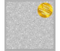"""Ацетатный лист с фольгированием """"White Poinsettia"""""""