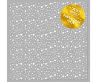 Ацетатный лист с фольгированием White Stars 30,5х30,5 см