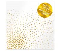 Ацетатный лист с фольгированием Golden Maxi Drops 30,5х30,5 см