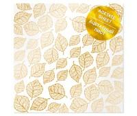 """Ацетатный лист с фольгированием """"Golden Leaves"""""""