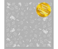 Ацетатный лист с фольгированием White Dill 30,5х30,5 см