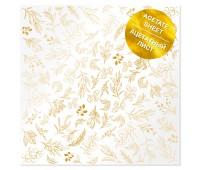 Ацетатный лист с фольгированием Golden Branches 30,5х30,5 см