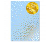 """Ацетатный лист с фольгированием """"Golden Maxi Drops Blue A4"""