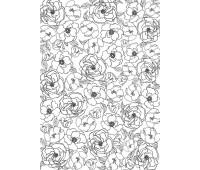 Оверлей Цветы фон 21х29,7 см