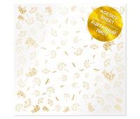 Ацетатный лист с фольгированием Golden Dill