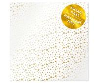 Ацетатный лист с фольгированием Golden Stars 30,5х30,5 см