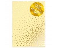 """Ацетатный лист с фольгированием """"Golden Maxi Drops Yellow A4"""""""