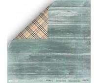 Лист двусторонней бумаги Зелёное дерево из коллекции Nordic Spirits, 30-30 см