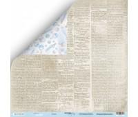Лист двусторонней бумаги Газета из коллекции Mommy's Hero, 30-30 см