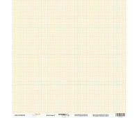 Лист односторонней бумаги Клеточка 1 из коллекции Baby Boy, 30-30 см