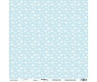 Лист односторонней бумаги Облака из коллекции Baby Boy, 30-30 см