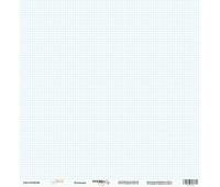 Лист односторонней бумаги Клеточка из коллекции Baby Boy, 30-30 см