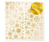 """Лист кальки (веллум) с фольгированием """"Golden Snowflakes"""", 30,5х30,5 см"""