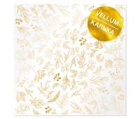 Лист кальки (веллум) с фольгированием Golden Branches 30,5х30,5 см