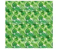 Деко веллум (лист кальки с рисунком) Green Wild Tropics 29х29 см 90г/м²