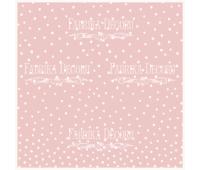 """Деко веллум (лист кальки с рисунком) """"Горошек на розовом"""""""