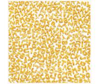 Деко веллум (лист кальки с рисунком) Алфавит 29х29 см 90г/м²