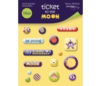 Наклейки эмалевые Ticket to the Moon