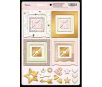 Рамки из чипборда с фольгированием золото Baby Doll