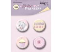 Набор скрап-фишек для скрапбукинга 4 шт, Daddy's Princess