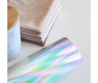 Термотрансферная пленка, цвет серебристая голограмма, 10х25 см