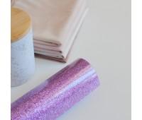 Термотрансферная пленка с глиттером, цвет лиловый, 10х25 см