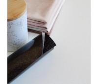 Термотрансферная пленка с глиттером, цвет черный, 10х25 см