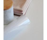 Термотрансферная пленка с глиттером, цвет белый, 10х25 см