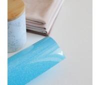 Термотрансферная пленка с глитером, цвет голубой, 10х25 см