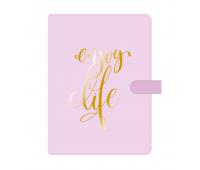 """Надпись из термотрансферной пленки """"enjoy life"""", 8,3х11 см"""