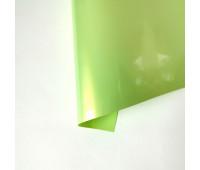 Термотрансферная пленка, цвет желто-зеленая матовая с перламутром, 10х25 см