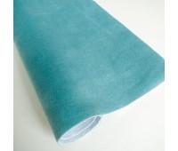 Велюр микро с фактурой полоска, цвет бирюзовый, 25-35 см